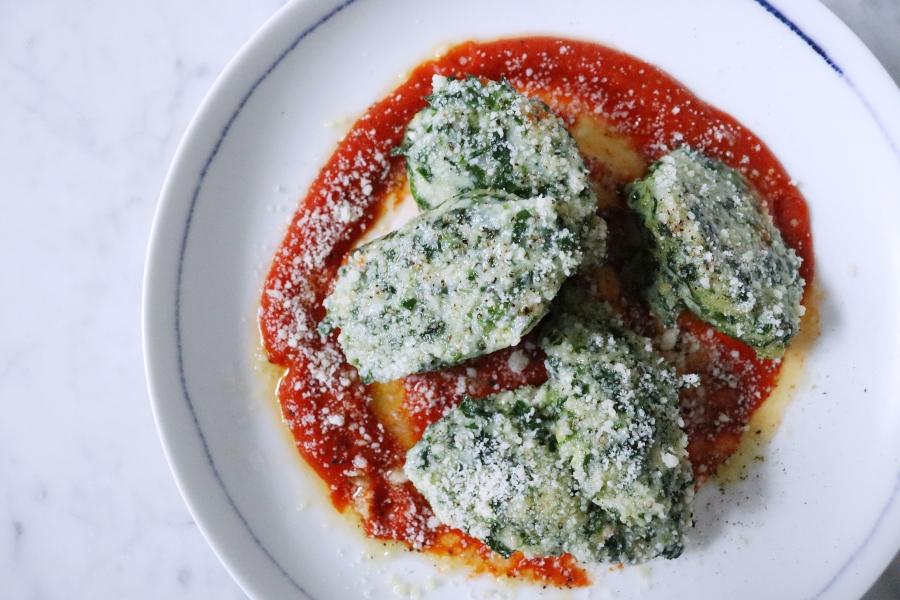 Ricotta + SpinachGnudi